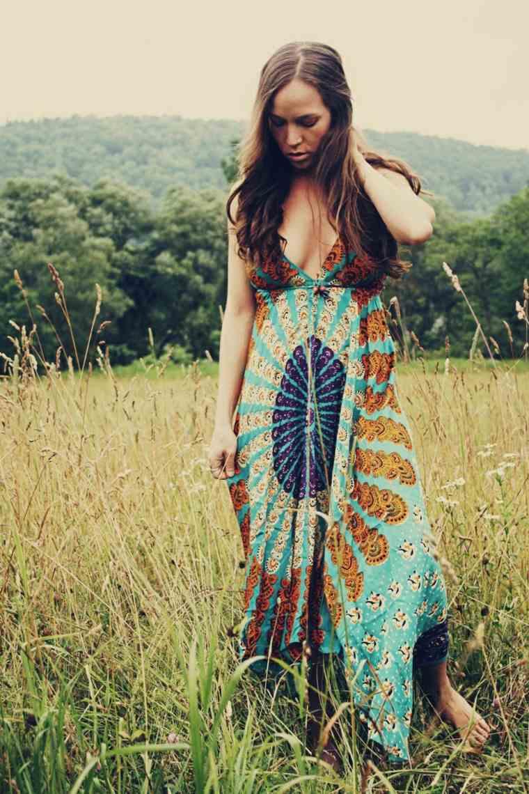 vestido largo ligero piedras soles