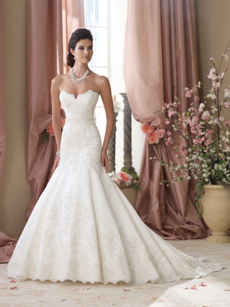 vestidos para novia diseño moderno elegante