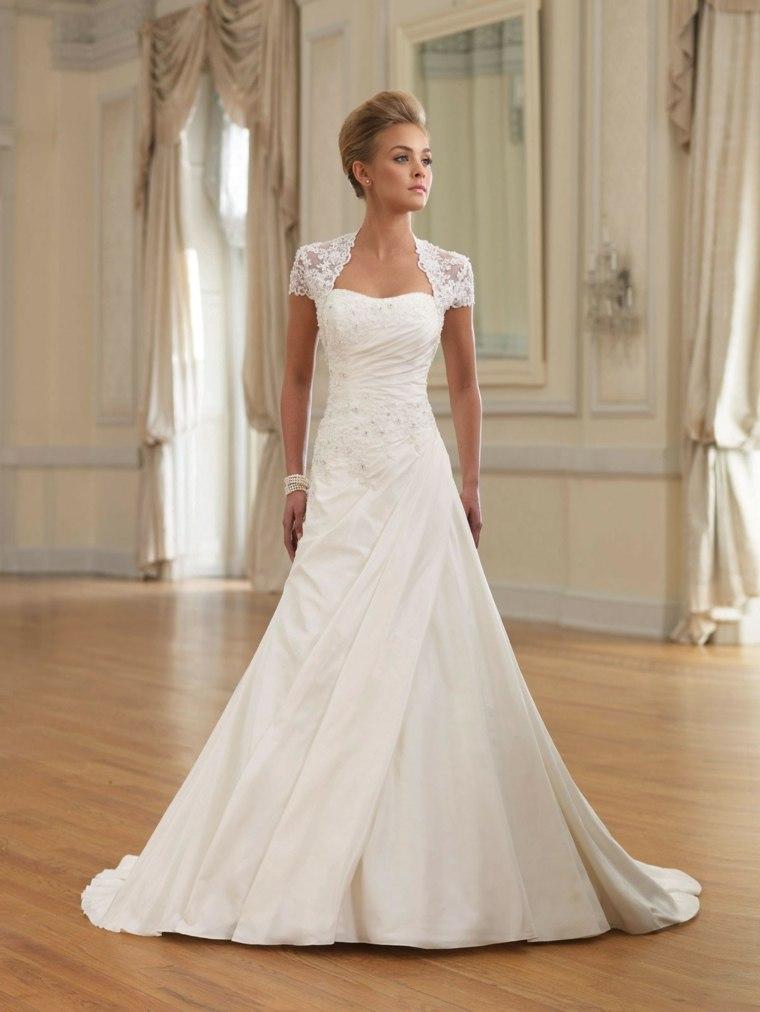 vestidos para novia elegantes blanco