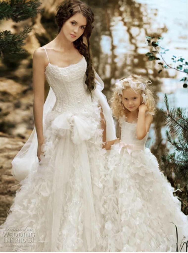 vestidos para novia elegantes blancos