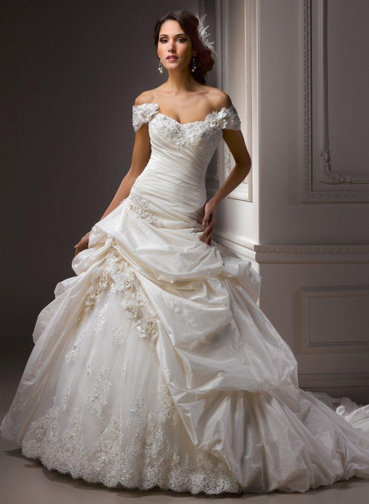 vestidos para novia modernos blanco