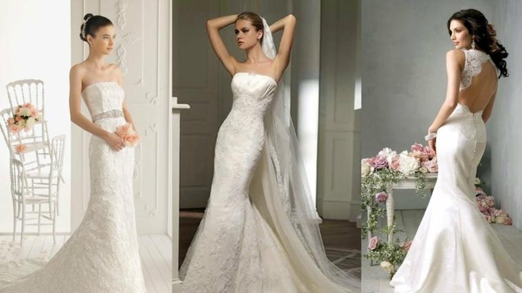 vestidos para novia modernos diseño blanco