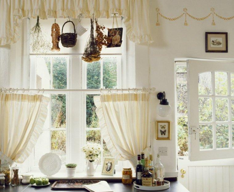 visillos para cocina diseno bellos blanco estilo ideas