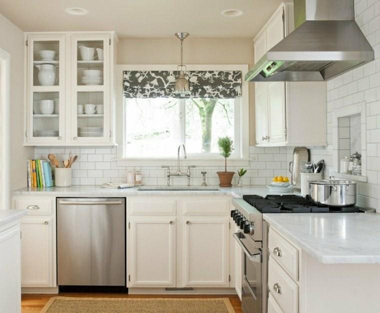 visillos para cocina diseno muebles blancos ideas