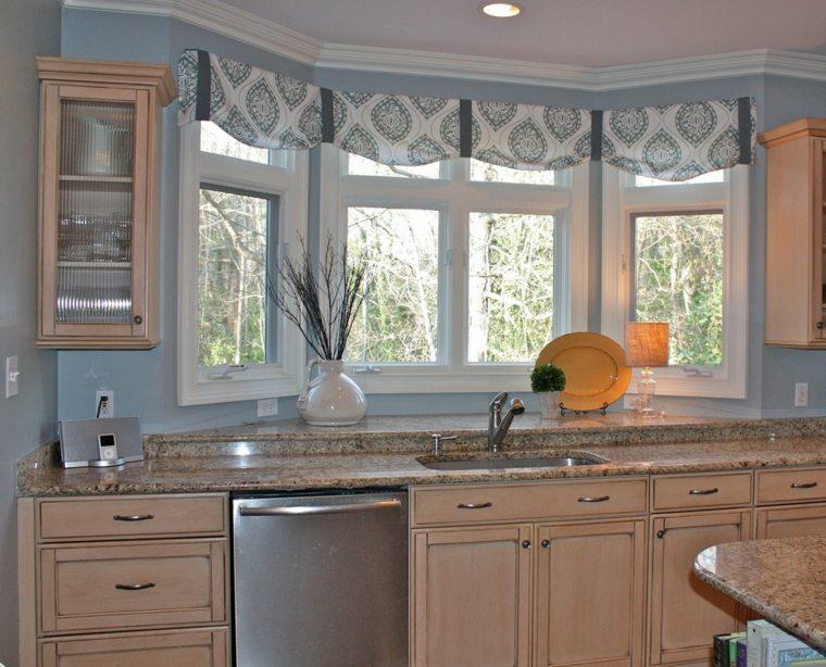 Visillos para cocina dise os inspiradores y muy elegantes - Disenos de cocinas de madera ...