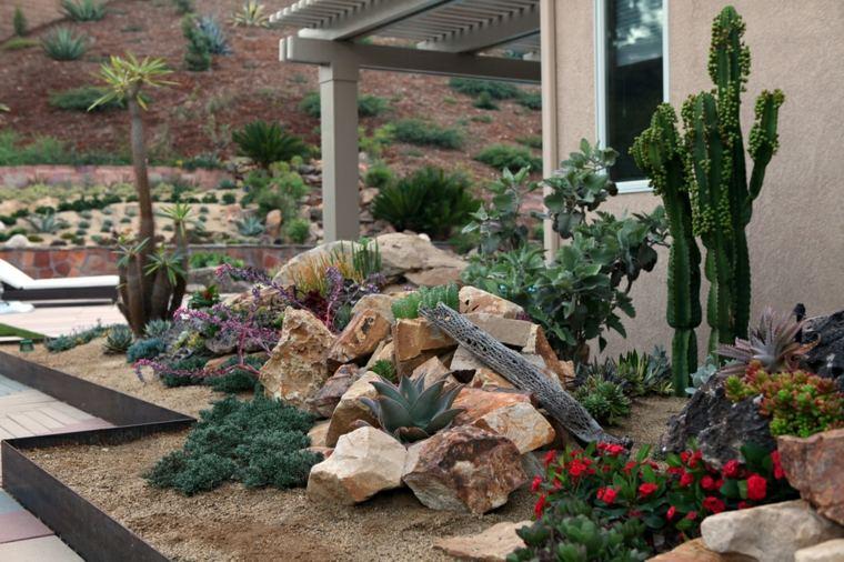 xeriscape rocas decraciones conceptos tejados