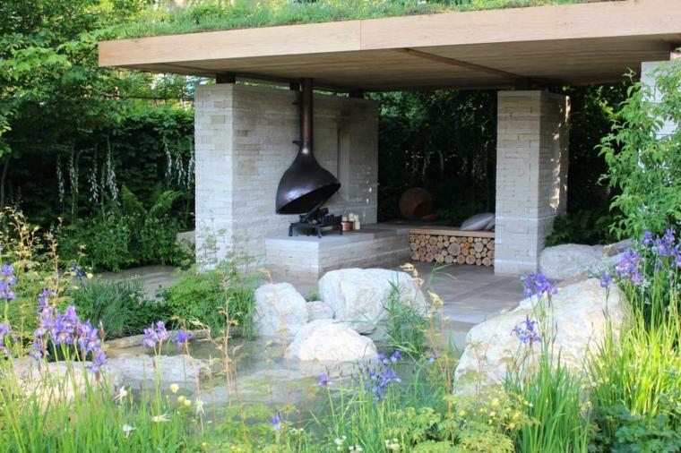 zona descanso llamativa diseños muebles paisajes