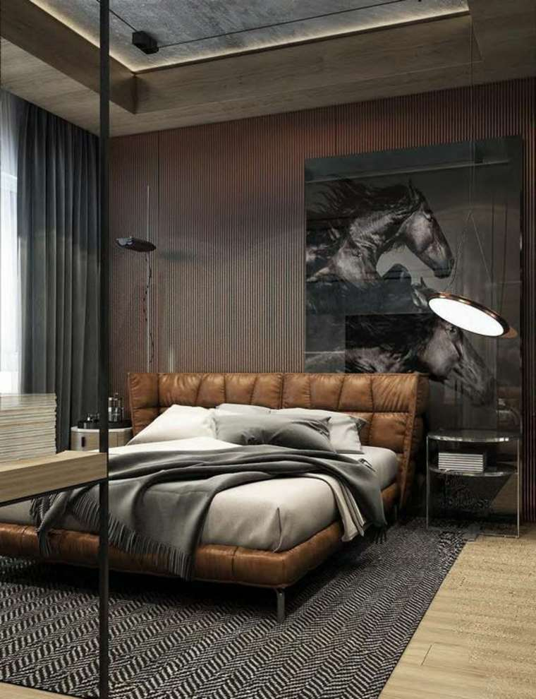 dormitorios con estilo masculino