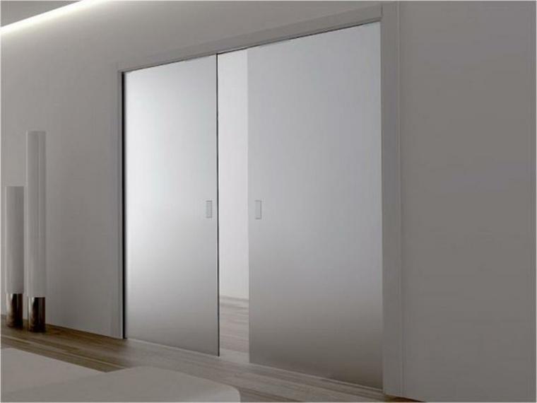 Puertas correderas de cristal para interiores con clase - Puerta corredera cristal bricodepot ...