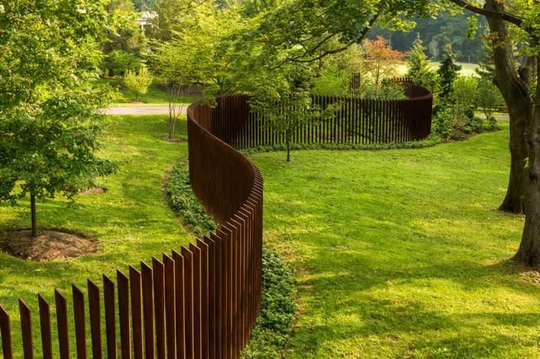acero corten espacios exteriores jardines puertas