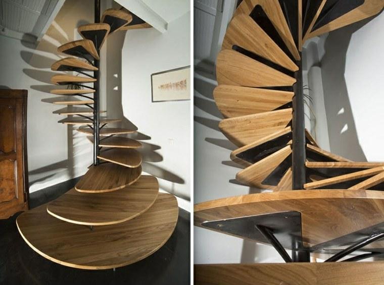 acero madera espirales espaciales modernas partes