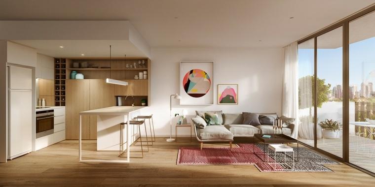 apartamento cocina salon espacio abierto ideas