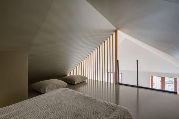 apartamento pequeno diseno minimalista cama ideas
