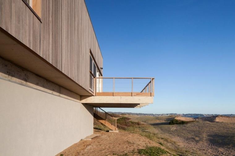 arquitectura diseño terrazas maderas mar vistas