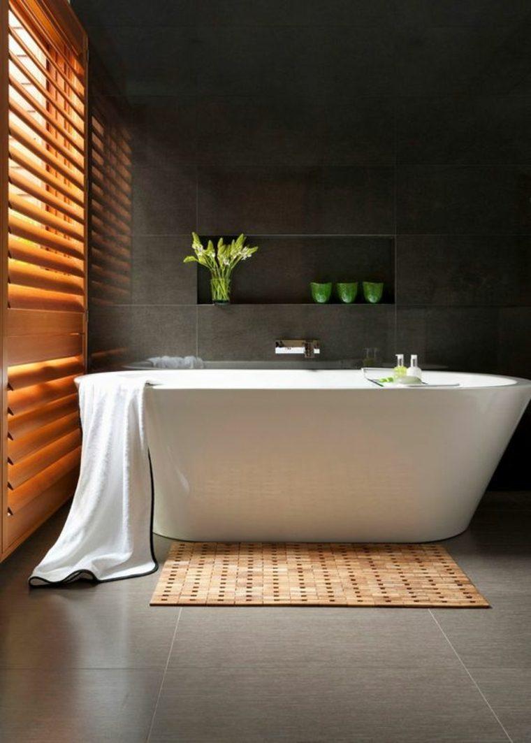 baño moderno azulejos grises
