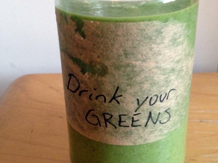 batidos de frutas fresco pendientes verdes materiales