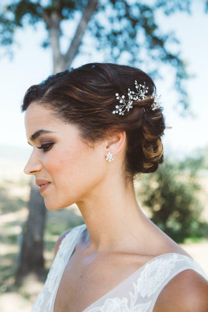 boda novia peinado detalle cristal ideas