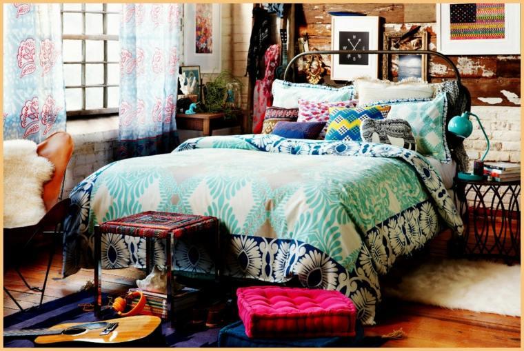 dormitorio hippie