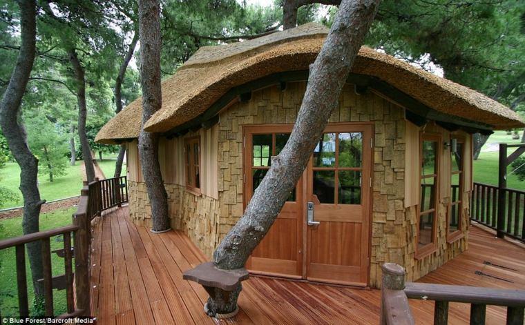 cabaña en un arbol moderna