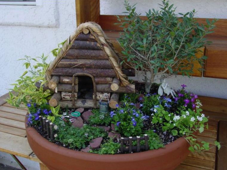 bonitos jardines en miniatura