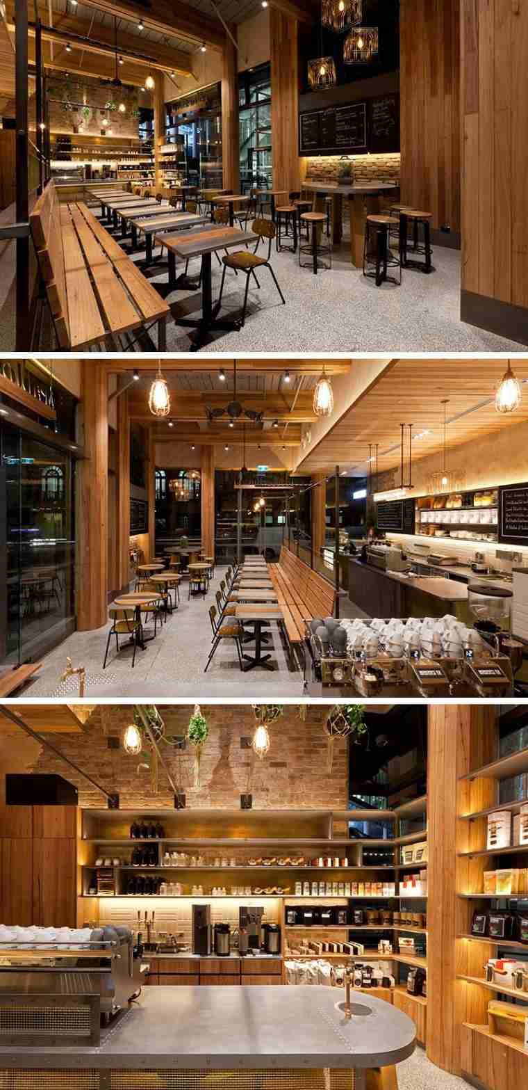 cafeterías con encato disenos brillante moderno ideas