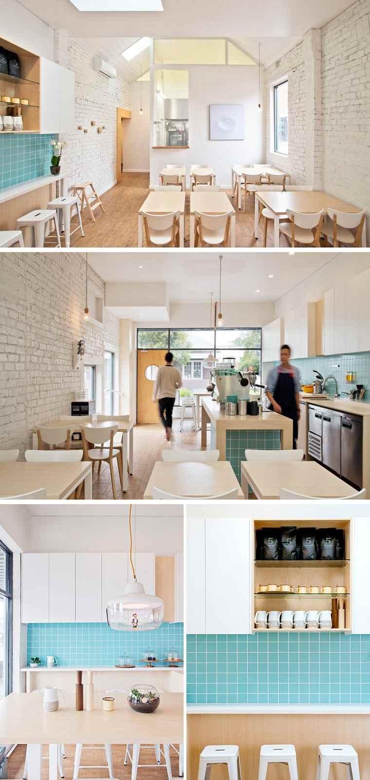 cafeterias con encato disenos estilo moderno ideas