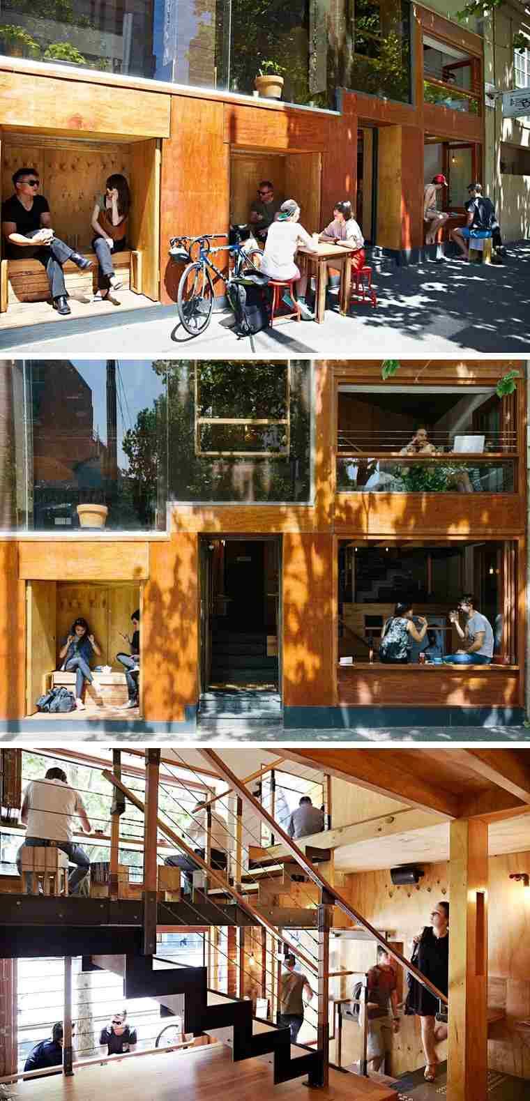 cafeterias con encato disenos varios niveles estilo ideas