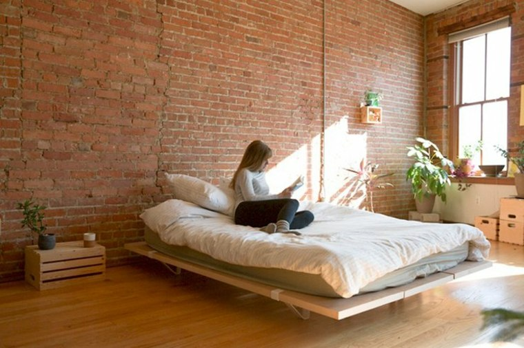 camas ideas Floyd Plataforma diseño ladrillos