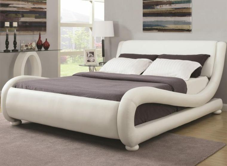 camas ideas especiales elegantes curvadas paredes