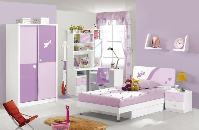 camas infantiles-muebles-blancos