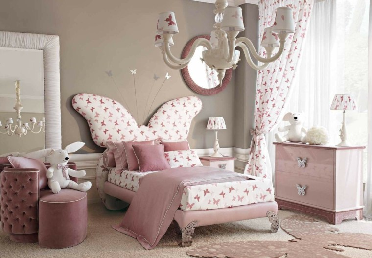 camas infantiles-respaldo-mariposa