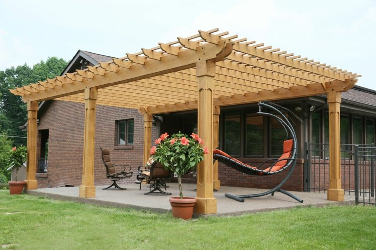 Pergolas en madera para la decoraci n moderna de la casa for Carpas de madera para jardin