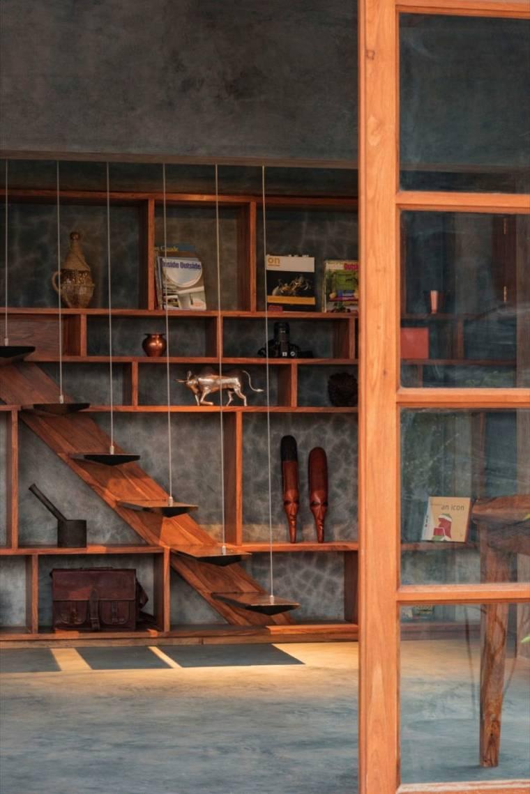 casa de madera hormigon india
