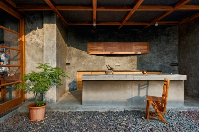 casa de madera hormigon