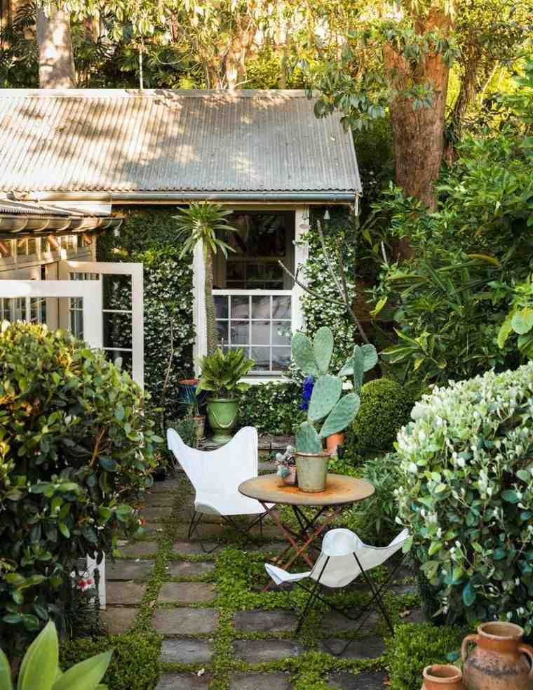casa jardin exotico-acogedores-especiales-simples-cactus