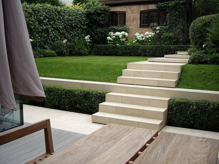 casa-jardin-terrazas-muestra-estilo-cesped-sombrillas