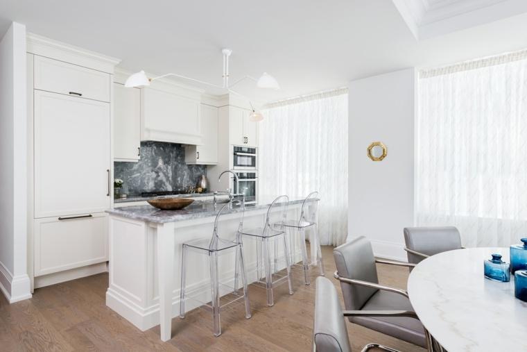 cocina contemporanea color blanco estilo ideas