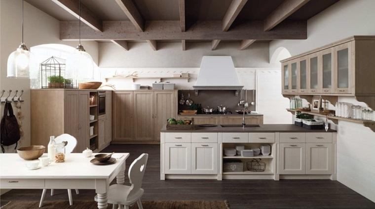 cocina diseno estilo clasico isla grande ideas
