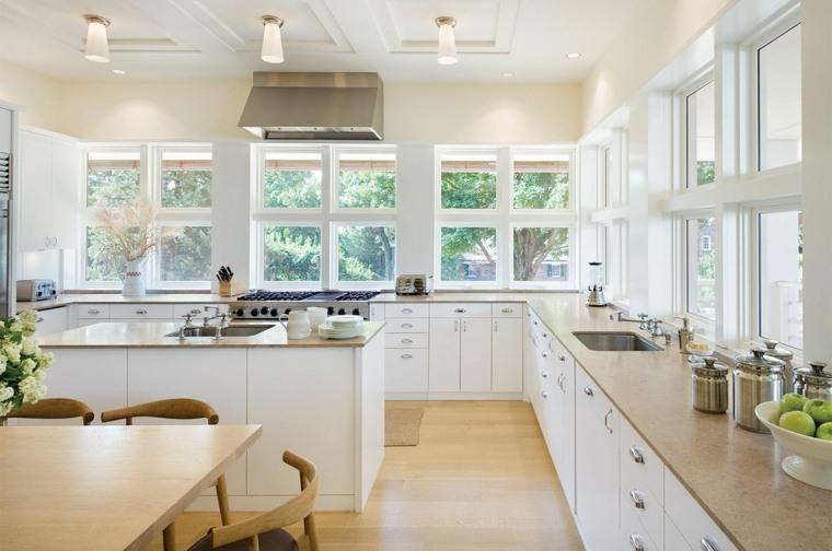 cocina moderna amplia Victoria Hagan ideas