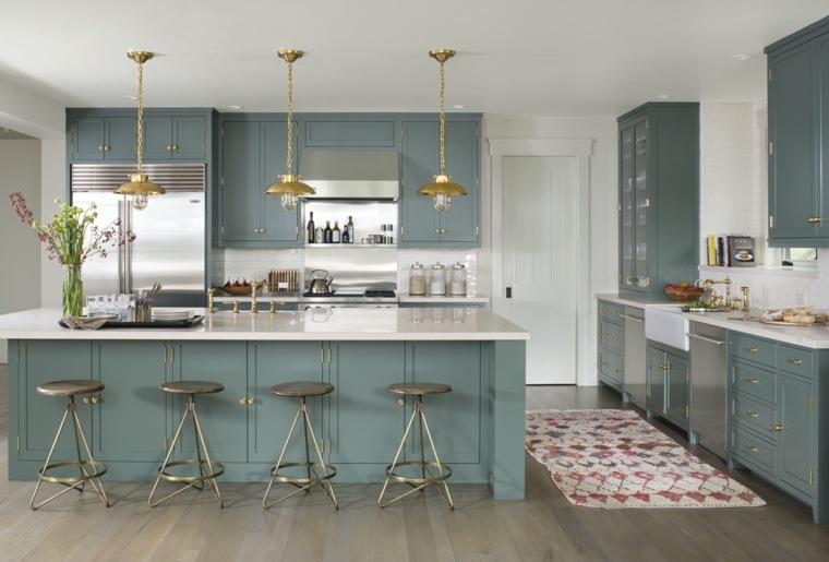 cocina muebles color espectacular isla grande ideas