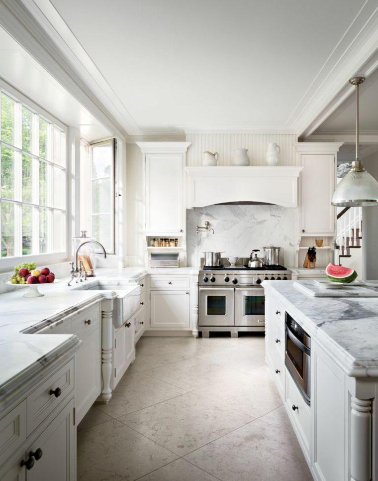 cocina tradiconal encimeras marmol ideas