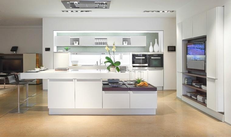 cocinas blancas diseño barreras metales conceptos