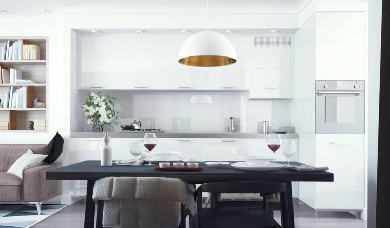 cocinas blancas diseño contemporanea especial imagenes