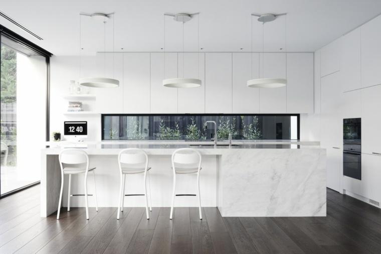 cocinas blancas diseño puertas conceptos muebles