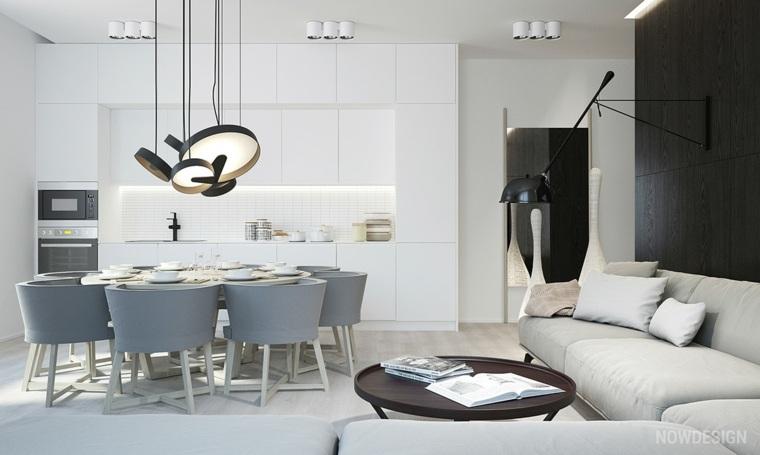 cocinas blancas diseño illones modernos combinaciones