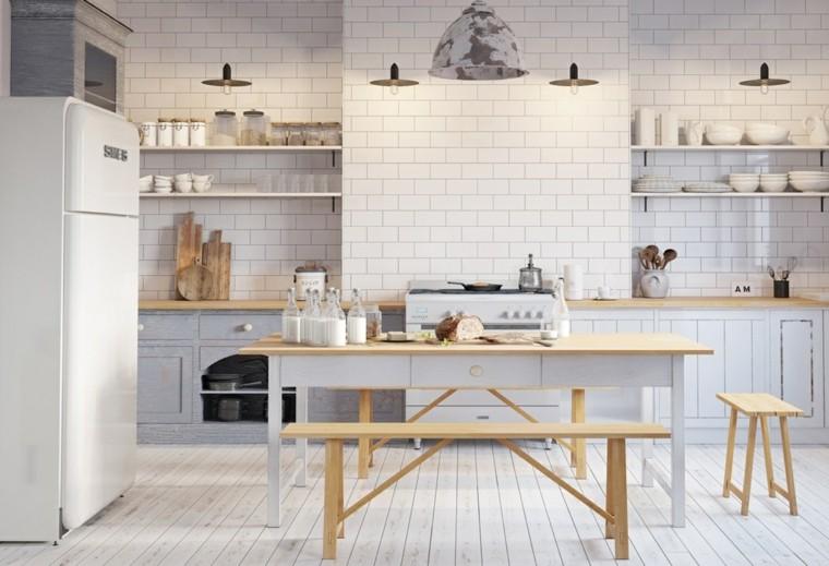cocinas blancas modernas diseno AM Studio ideas