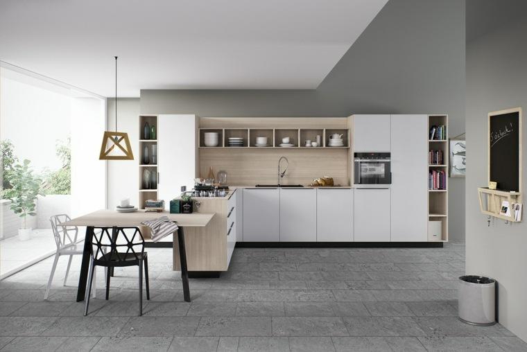 cocinas blancas modernas isla muebles modernos ideas