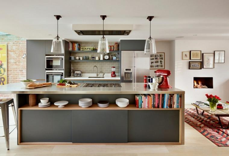 cocinas con isla diseno plano abierto ideas