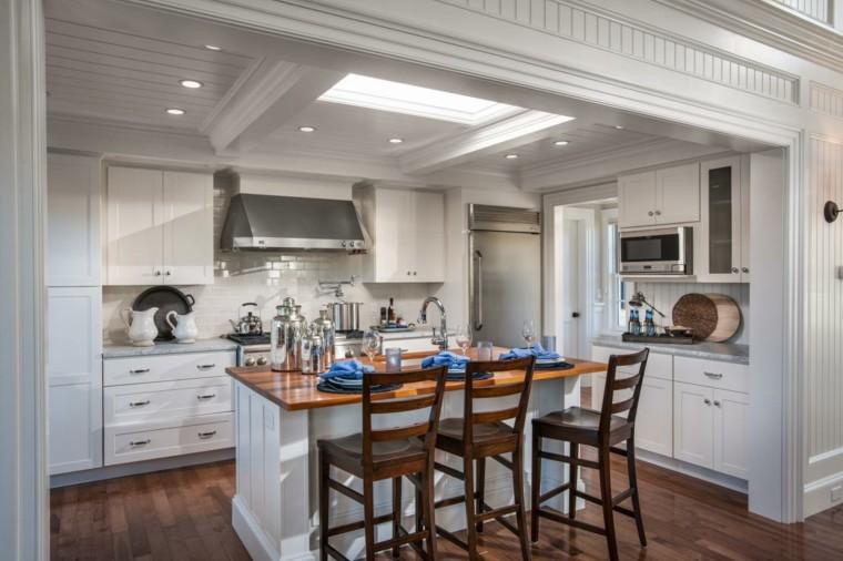 cocinas con isla estilo casa campo ideas