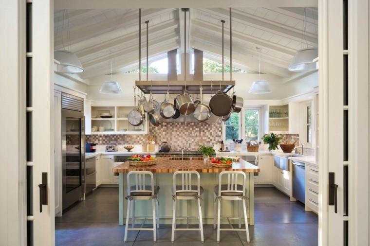cocinas con isla opciones espacios amplios ideas